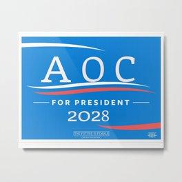 AOC for Prez Metal Print