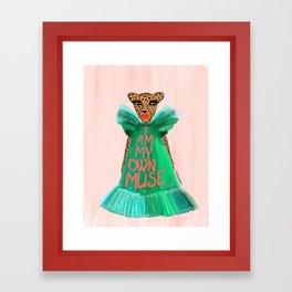 I Am My Own Muse Framed Art Print
