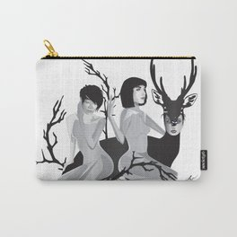 Becoming One With Nature Deer Carry-All Pouch