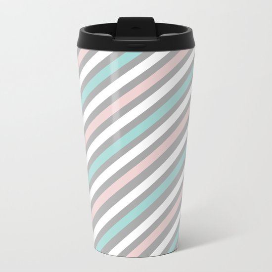 INFINITE LINES (abstract pattern) Metal Travel Mug