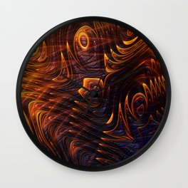 Lava Flow Abstract Wall Clock