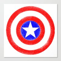 agents of shield Canvas Prints featuring Shield (W) by Luca Draws