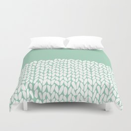 Half Knit Mint Duvet Cover