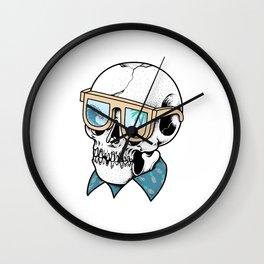 Skull Holiday Wall Clock