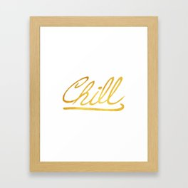 Gold Chill Framed Art Print