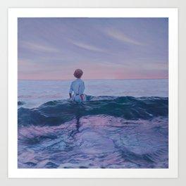 Her Steady Horizon - Surf Art Print