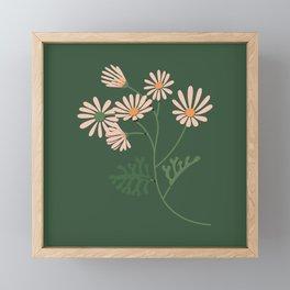 Colourful Plant - Apricot Flowers Framed Mini Art Print