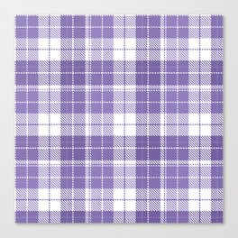 Ultra Violet Tartan Pattern Canvas Print