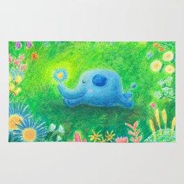 Elephant garden Rug