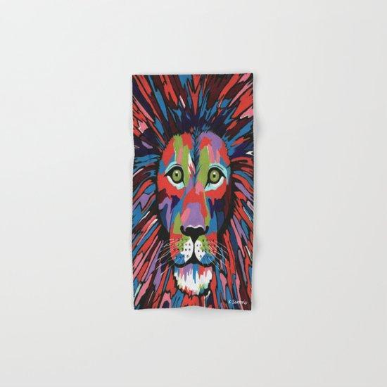 Flamboyant Lion Hand & Bath Towel