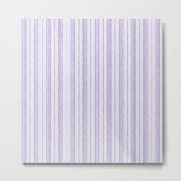 Velvety Snakeskin Stripe in Pale Lavender Lilac Metal Print