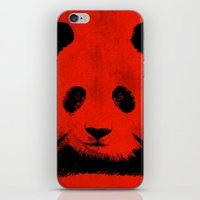 red panda iPhone & iPod Skins featuring Red Panda by Laura Brightwood