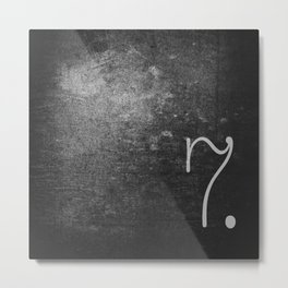 NUMBER 7 BLACK Metal Print