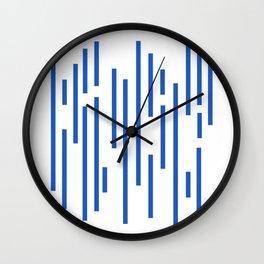 Minimalist Lines – Blue Wall Clock