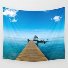 Tahiti Boat Dock Wall Tapestry