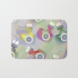 seamless pattern with cameras - background photo business Bath Mat