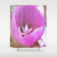 tulip Shower Curtains featuring Tulip by J's Corner