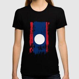LA LAO Laos Flag T-shirt