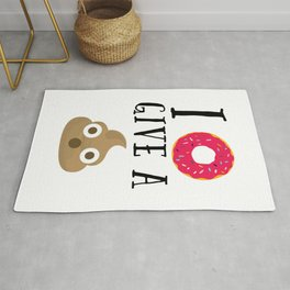 Donut Give A Sh*t Funny Quote Rug