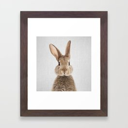 Rabbit - Colorful Framed Art Print