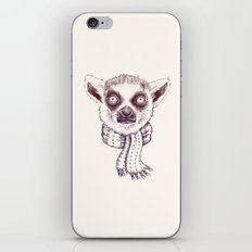 Lemur and scarf  iPhone & iPod Skin