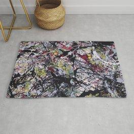 A Jackson Pollak style art digitally vectorised Rug