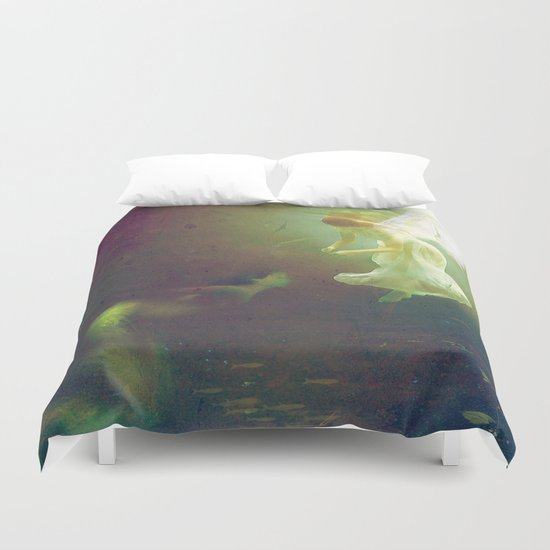 The angel and the mermaid Duvet Cover
