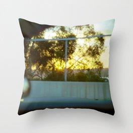 Sunset and Bokeh Throw Pillow