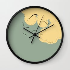 The Yellow Clouds Wall Clock