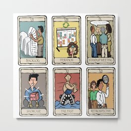Office Tarot - Series 2 - Agile Metal Print