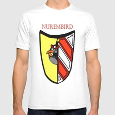 The Angry Nuernberg Nurembird MEDIUM White Mens Fitted Tee