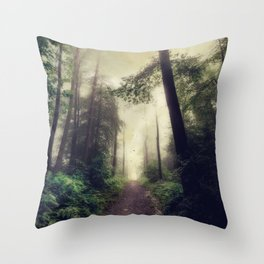 enchanted forest II Throw Pillow