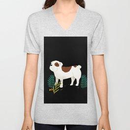 Bulldog love  Unisex V-Neck