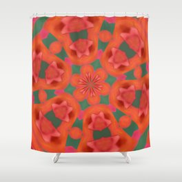 Succulent Red and Yellow Flower Abstract 2 Shower Curtain
