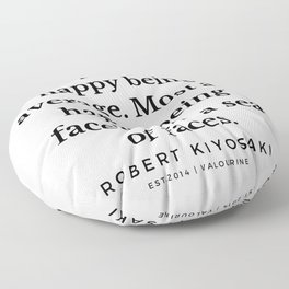 46  |  Robert Kiyosaki Quotes | 190824 Floor Pillow