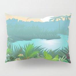 Jungle Dream Landscape Pillow Sham