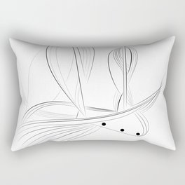 Sailboat - Lost in the right direction - fine line Rectangular Pillow