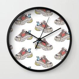 Balenciaga Triple S Sneaker Pattern Illustration Wall Clock