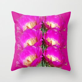 Magenta Twins Throw Pillow