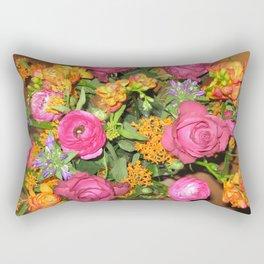 Annas Flowers V Rectangular Pillow