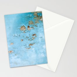 Turquoise Blue Abstract Texture Stationery Cards