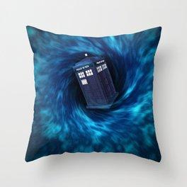 """TARDIS """"Dr. WHO"""" Throw Pillow"""