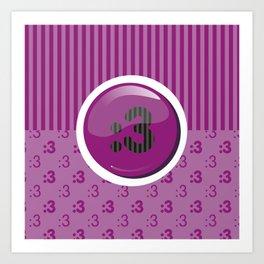 Purple Writer's Mood Art Print