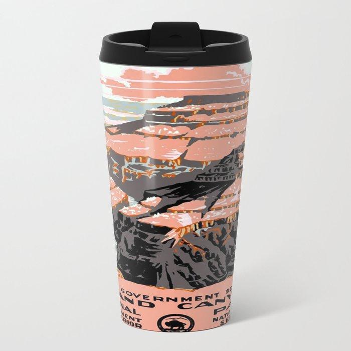 Vintage poster - Grand Canyon Travel Mug