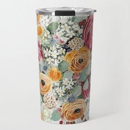 Fall Protea Bouquet Travel Mug