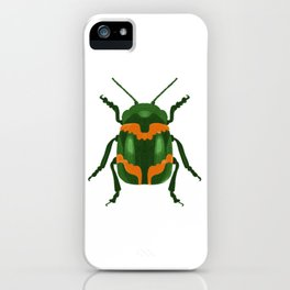 Green Beetle iPhone Case
