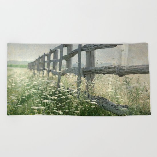 Rustic Fence Beach Towel