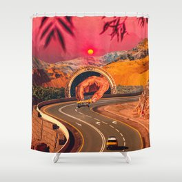 A Second Racer Appears Shower Curtain