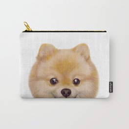 Pomeranian Dog illustration original painting print Carry-All Pouch