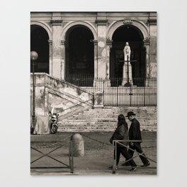 Priest Passing By, Rome Canvas Print